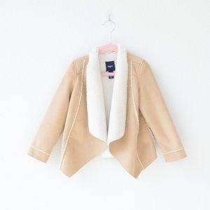 GAP Sherpa/faux suede jacket